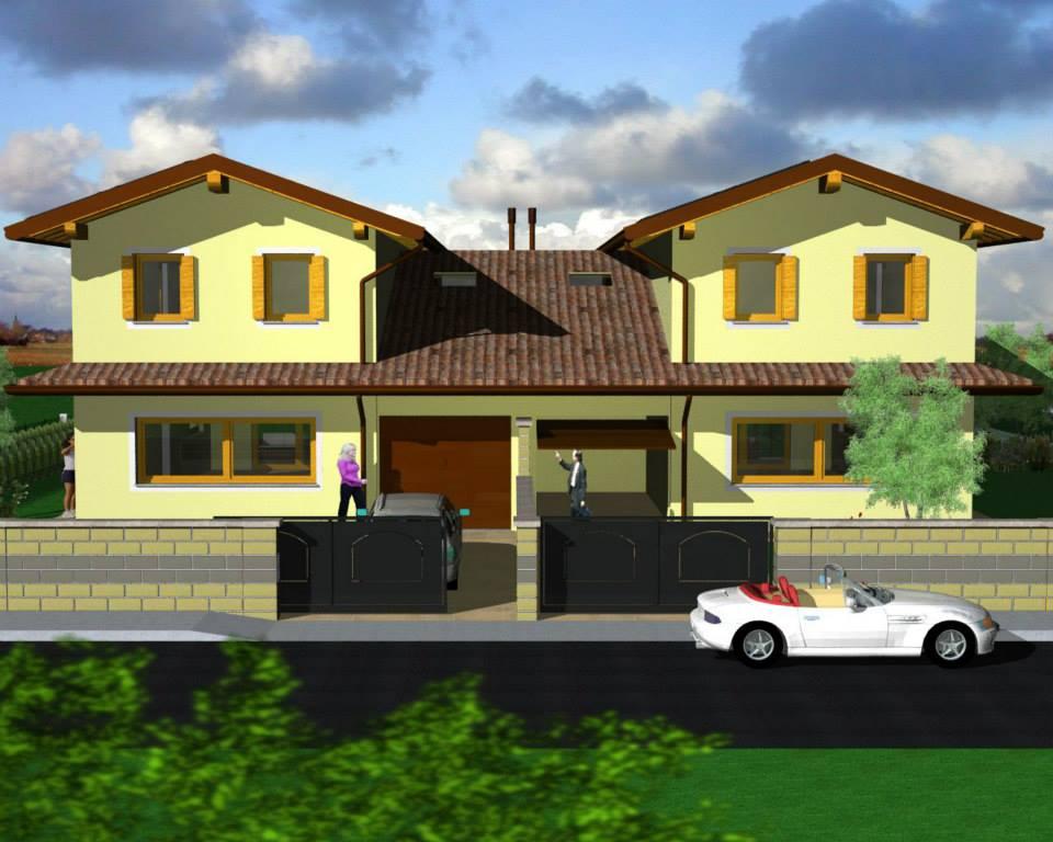 Villa bifamiliare progetto personalizzabile turello for Disegni di addizione garage