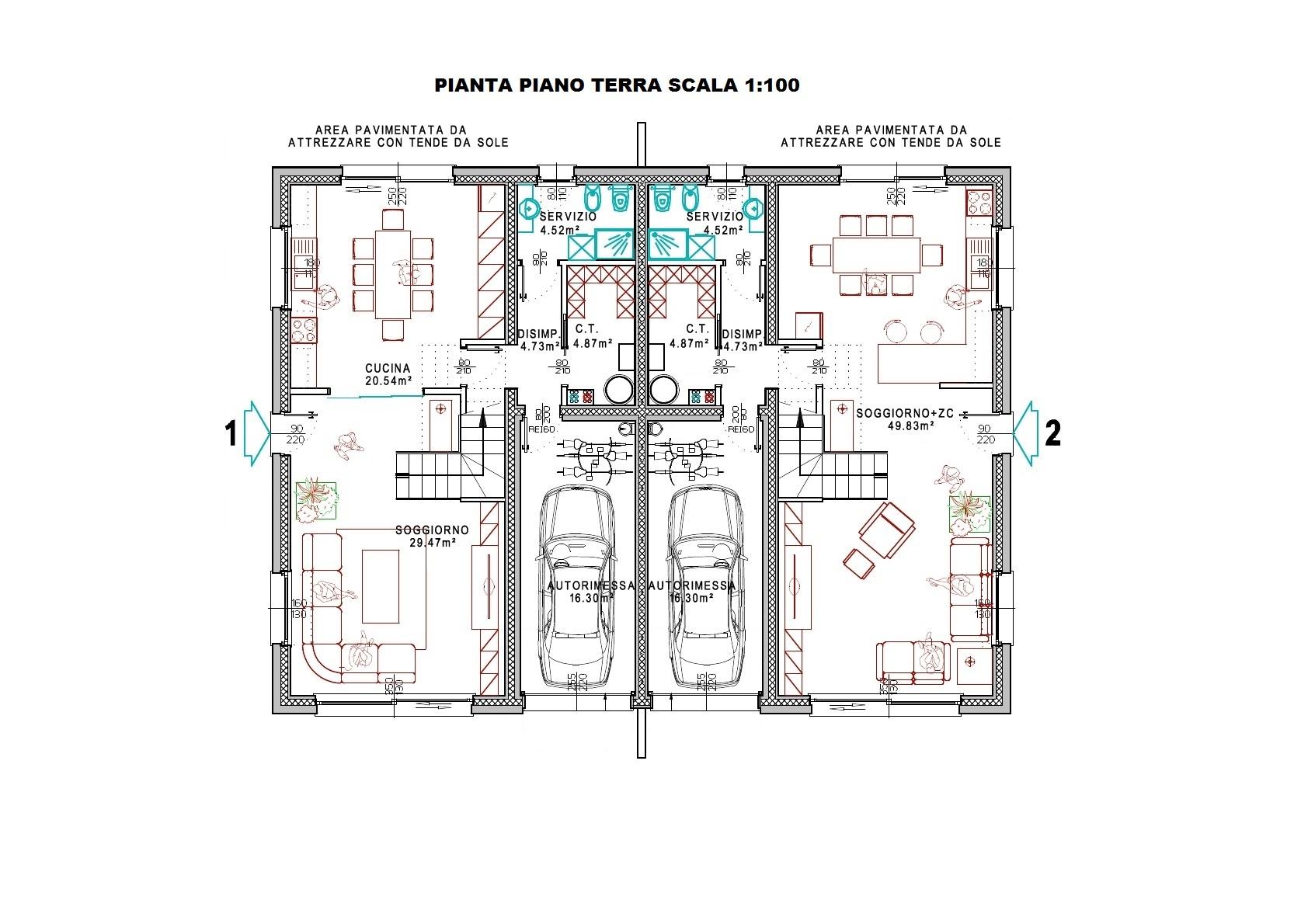 Villa bifamiliare progetto personalizzabile turello for Progetti di townhouse e planimetrie