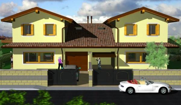 Villa bifamiliare progetto personalizzabile turello for Progetti ville bifamiliari moderne